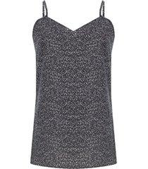 blusa estampada miniprint color negro, talla 8