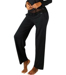 pyjama's / nachthemden lascana luxurious nights pajama pants zwart
