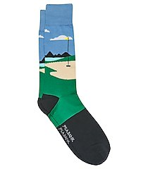 travel tech hole in one dress socks, 1-pair