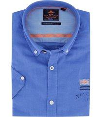 blauw overhemd korte mouw nza rakaia