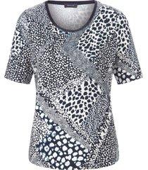 shirt korte mouwen en grafische print van basler blauw
