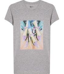 camiseta mujer baletas color gris, tallal