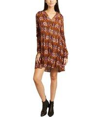 robbie kado fancy print long sleeves dress