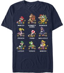 nintendo men's mario kart character choice short sleeve t-shirt