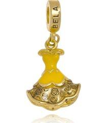 berloque boca santa semijoias bela  ouro amarelo - amarelo - feminino - dafiti