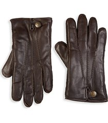 metisse leather & faux fur tech gloves
