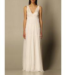 alberta ferretti dress alberta ferretti long dress in chiffon with embroidery