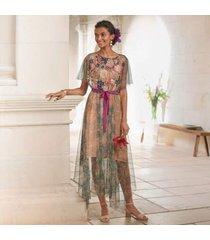 sundance catalog women's botanical breeze dress in green floral xs