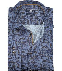 state of art shirt donkerblauw regular fit