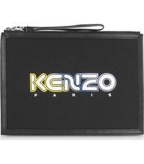 kenzo black kombo large pouch