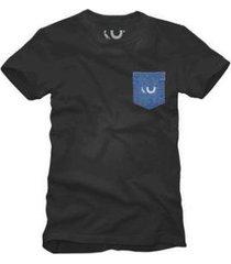 camiseta bolso jeans estampado reserva - masculino
