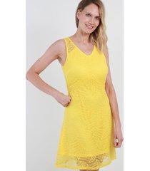 vestido de encaje lola amarillo night concept