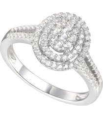 1/2 ct. t.w. round shape diamond ring in 14k white gold