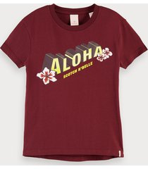scotch & soda aloha artwork t-shirt