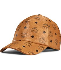 men's mcm visetos logo coated canvas baseball cap - brown