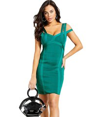 vestido swtr mirage 2e verde guess