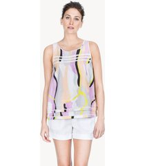 lilla p woven cotton voile double layer tank