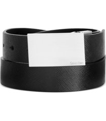 calvin klein men's big and tall saffiano leather reversible dress belt