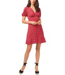 1.state puff-sleeve dress