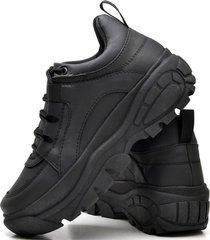 tênis sapatênis plataforma fashion feminino dubuy 731el preto