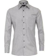 casamoda overhemd donker oxford effen kent comfort fit