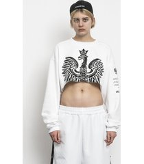 bluza krótka eagle crop sweatshirt