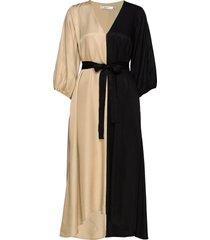 lorahgz oz dress ms20 jurk knielengte beige gestuz