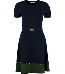 tory burch knitted belted dress