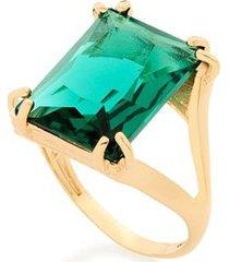 anel vazado aro duplo com cristal rommanel