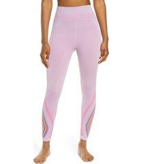 women's free people fp movement the essence high waist leggings, size medium/large - pink