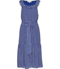 mini railroad maxi dr jurk knielengte blauw michael kors