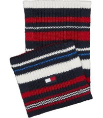 tommy hilfiger men's chunky variegated striped scarf