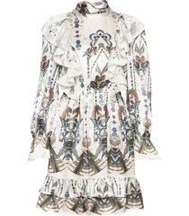ava mini dress korte jurk multi/patroon by malina