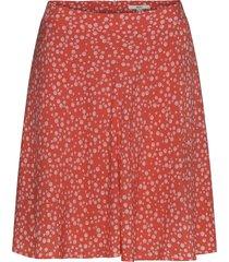 skirts light woven knälång kjol röd esprit casual
