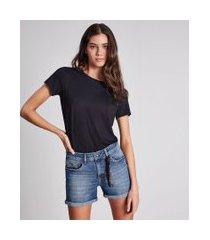 lez a lez - shorts ibiza com lenço jeans
