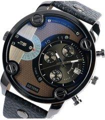 reloj cuarzo hombre correa cuero w196001 color negro