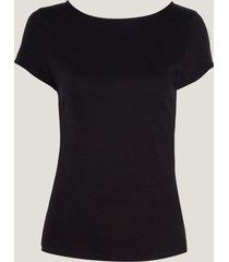 blusa dudalina manga curta básica ribana feminina (cinza mescla claro v19, gg)