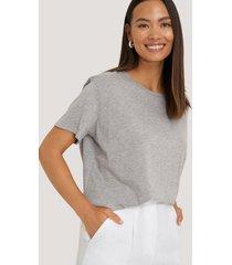 na-kd basic basic oversize t-shirt - grey