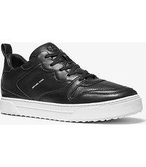 mk sneaker baxter in pelle - nero (nero) - michael kors