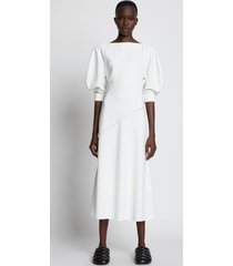 proenza schouler crepe puff sleeve dress off white 10