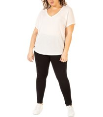 black tape plus size high-rise leggings