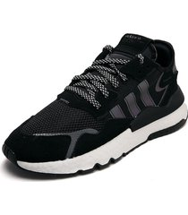 tenis lifestyle negro-blanco adidas originals nite jogger