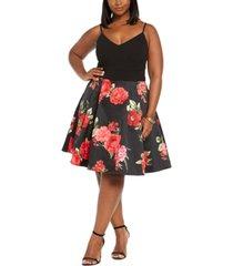 b darlin trendy plus size floral mesh dress