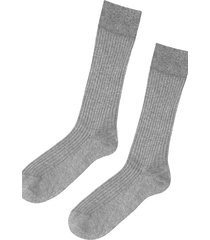 calzedonia short ribbed egyptian cotton socks man grey size 44-45