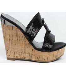 sandalias footwear gwbeanca-a negro guess