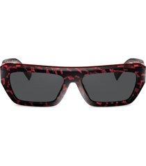 alain mikli armitage rectangular frame sunglasses - grey