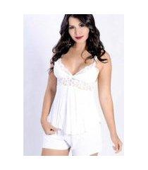 short doll yasmin lingerie copacabana liganete feminino