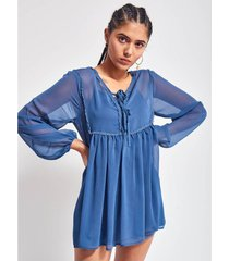 camisa azul 47 street maki