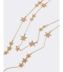 collana multifilo con stelle