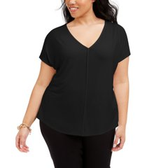 bar iii trendy plus size v-neck t-shirt, created for macy's